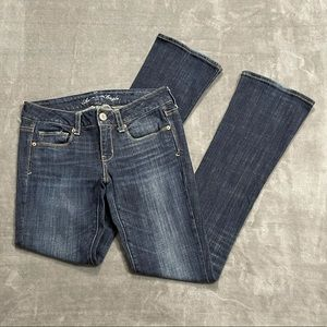 American Eagle Skinny Kick Sequin Bootcut Jeans!
